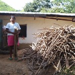 The firewood a family obtained from one Inga pruning