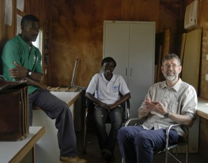 Dr Martin Cheek of Kew Gardens along with the Congolese Botanists overseeing the project in Congo.